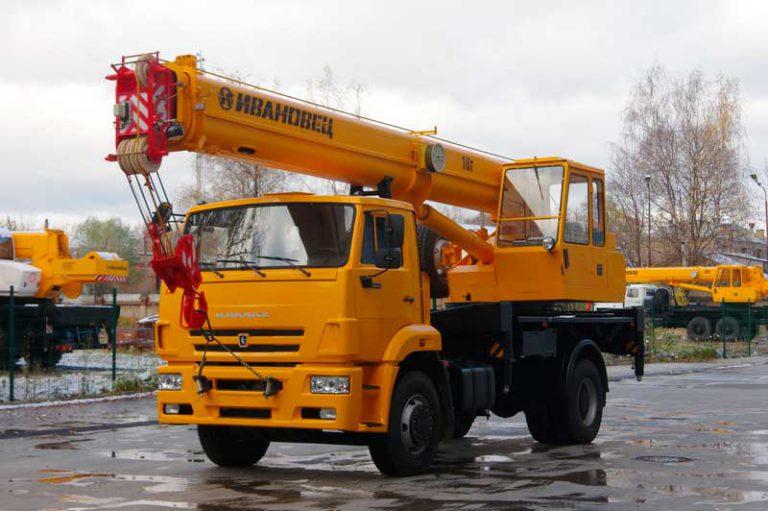 Автокран Ивановец  16 тонн 18 метров