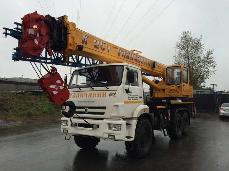 Автокран Галичанин  25 тонн 28 метров